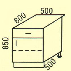 D-12 - Польша - PL - Типовые нижные шкафчики - Кухни модульные