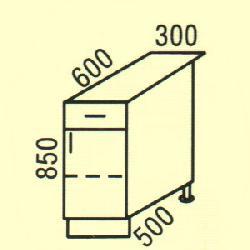 D-28 - Польша - PL - Типовые нижные шкафчики - Кухни модульные