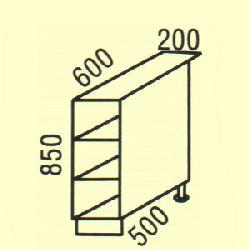 D-2 - Польша - PL - Типовые нижные шкафчики - Кухни модульные