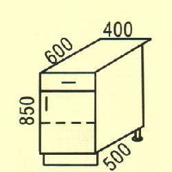 D-31 - Польша - PL - Типовые нижные шкафчики - Кухни модульные