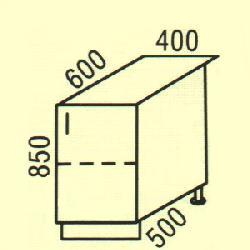 D-4 - Польша - PL - Типовые нижные шкафчики - Кухни модульные