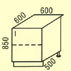 D-6 - Польша - PL - Типовые нижные шкафчики - Кухни модульные
