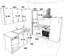 Модульные кухни из ламината K III