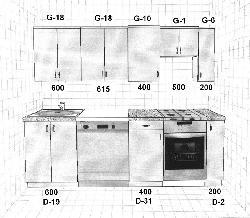 K II  Модульные кухни из ламината