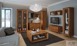 Enzo klasiskā viesistaba - Polija - Gala Meble - Klasiskās viesistabas - Sekcijas, Vitrīnas, Plaukti