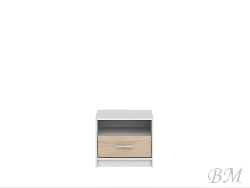 NEPO-KOM1S ночной шкафчик - Польша - Black Red White ( BRW ) - Прикроватные тумбочки - Спальная комната