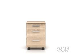 Шкафчик BRW-OFFICE KON3S - Польша - Black Red White ( BRW ) - Шкафчики, шкафы - Офисная мебель