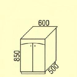 D-45 - Польша - PL - Типовые нижные шкафчики - Кухни модульные