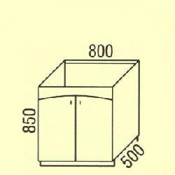 D-48 - Польша - PL - Типовые нижные шкафчики - Кухни модульные