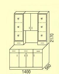 Комплект Модульные комплекты для кухни Типовые нижные шкафчики