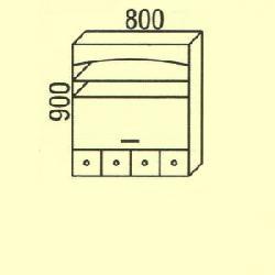 Virtuves iekarta sturis G-86 Tipiskie augšējie skapīši
