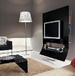 MODERNmoobel - Tempered glass TV stand -