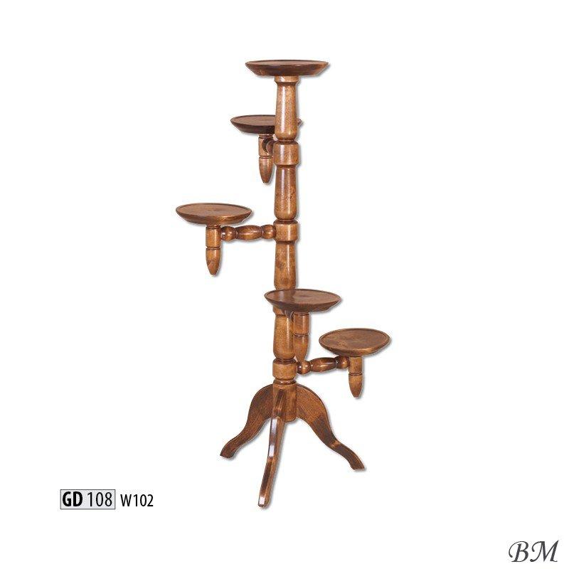 Купить Мебель - Подставки для цветов - подставка - GD108 - для - Drewmax - Польша - цветов - Цвет фасада wisnia wloska цвет по каталогу