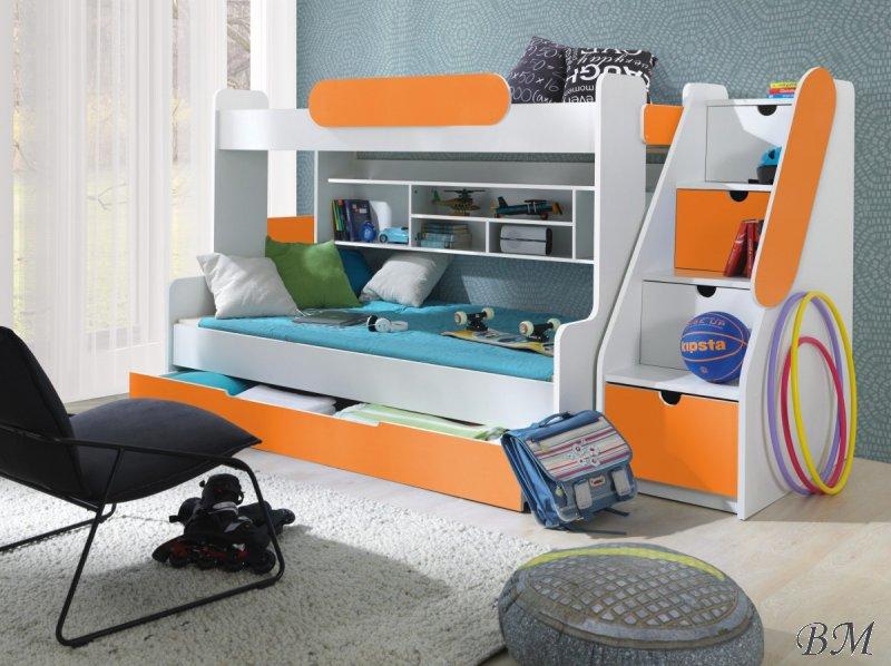 Купить Мебель - двухъярусная - кроватка - со - Польша - MEBLObed - Кровати двухъярусные - SEGAN - шкафчиками - детская - Кроватка детская от 4 х лет