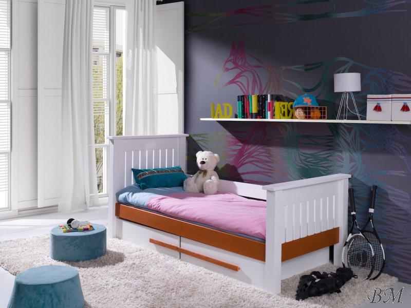 Купить Мебель - с - Кровати для детей одноместные - кровать - MEBLObed - Carmen - Польша - одноместная - 2 - классическая - ящиками - Кровать деревянная подвесной ящик