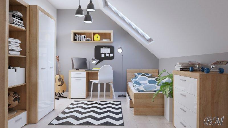 Купить Мебель - Подростковые, молодежные комплекты - BALDER - детская - Польша - Black Red White ( BRW ) - комната - Марио детская комната