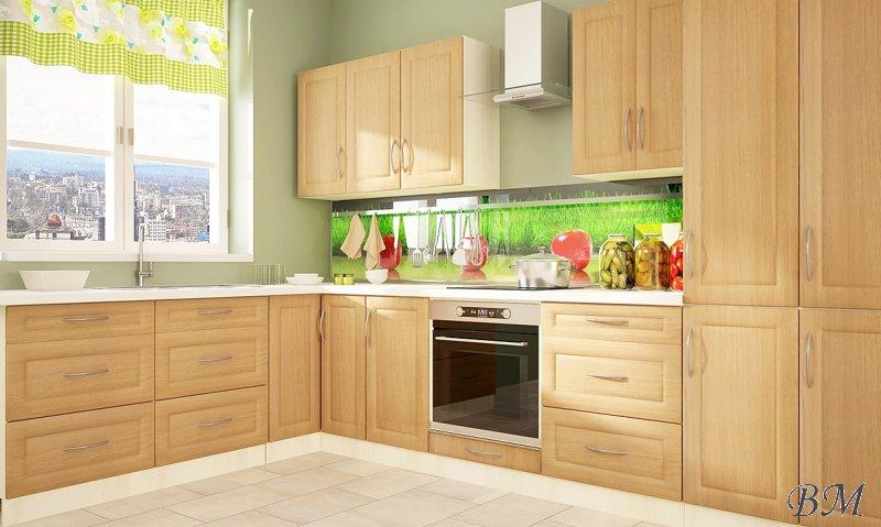 Купить Мебель - Модульные кухни, индивидуальные - модульная - LUX - кухня - Польша - GOLD - классическая - II - Extom - Ескизи угалок для кухн