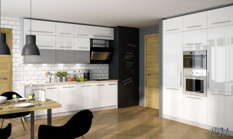 Купить Мебель - модерн - PLATINIUM - 5 - Модульные кухни, индивидуальные - Extom - модульная - Польша - кухня - Стенка модульная с витринами и комодом модерн