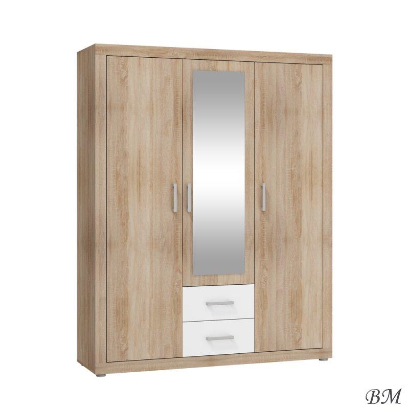 Купить Мебель - Viki - Шкафы трехдверные - VIK-07 - Польша - 3D - гардероб - MEBLOCROSS - Гардероб прихожая