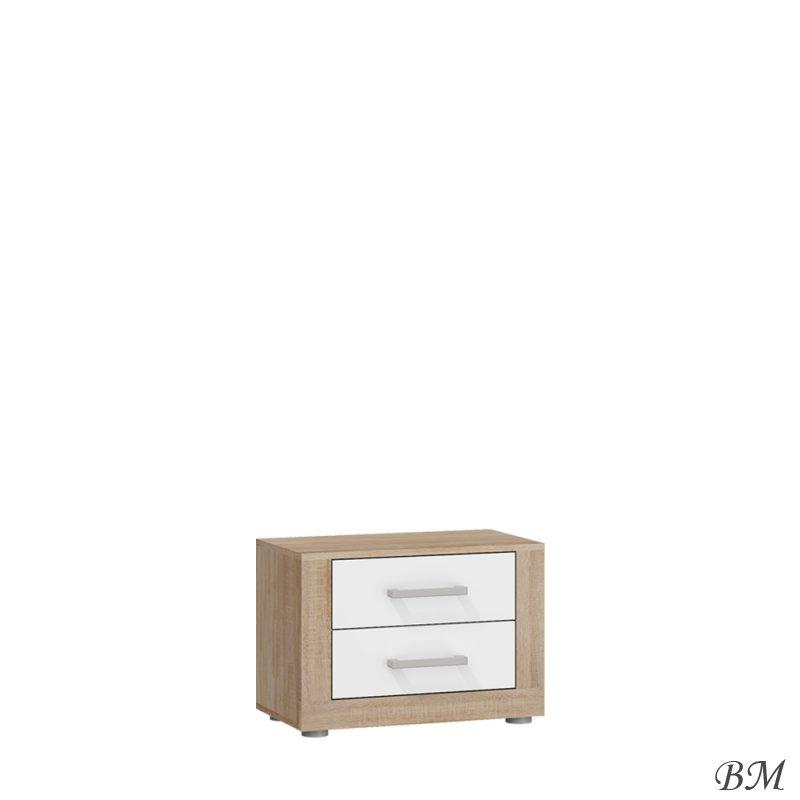 Купить Мебель - MEBLOCROSS - Viki - прикроватная - тумбочка - Прикроватные тумбочки - Польша - VIK-14 - Прикроватная тумбочка цвет серый глянец