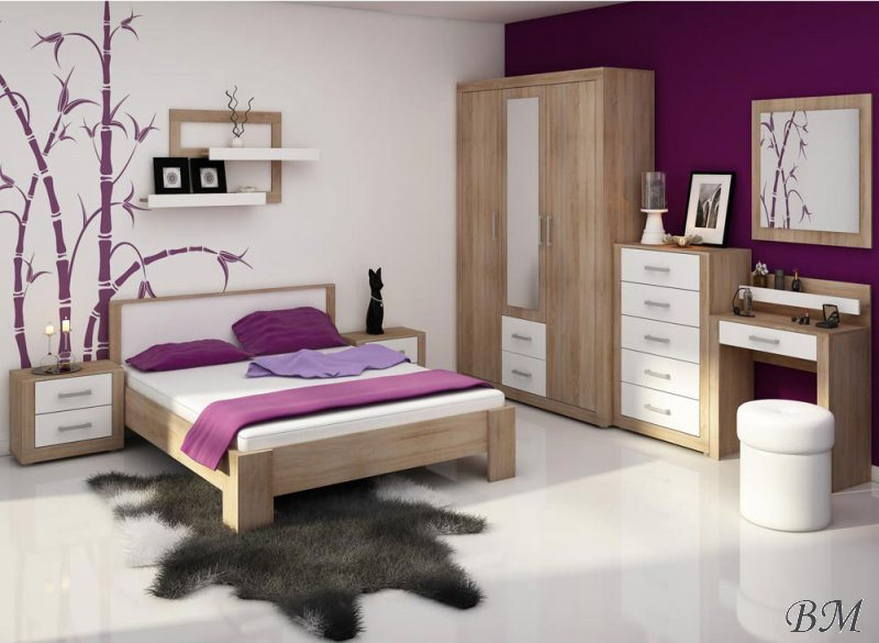 Купить Мебель - VIKI - Польша - MEBLOCROSS - Спальные комплекты, Гарнитуры для спальни - спальня - Спальня из мдф