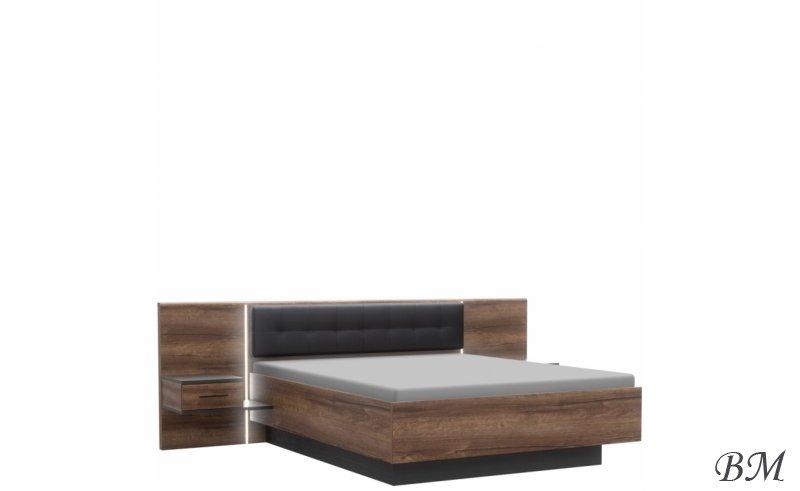 Купить Мебель - Forte - кровать - с - тумбочками - BLQL161B - Полутороспальные кровати - Bellevue - Польша - Мебелни кроват